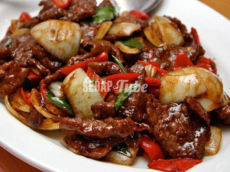resepi daging masak black pepper sedap tube
